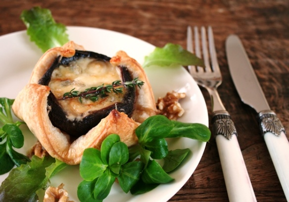 Gevulde portobello's met gorgonzola