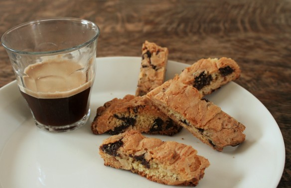 koffie met cantuccini's