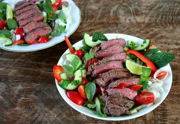 Thaise rundvlees salade