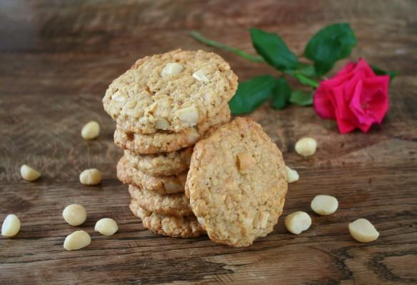 Cookies met witte chocolade en macedemia noten