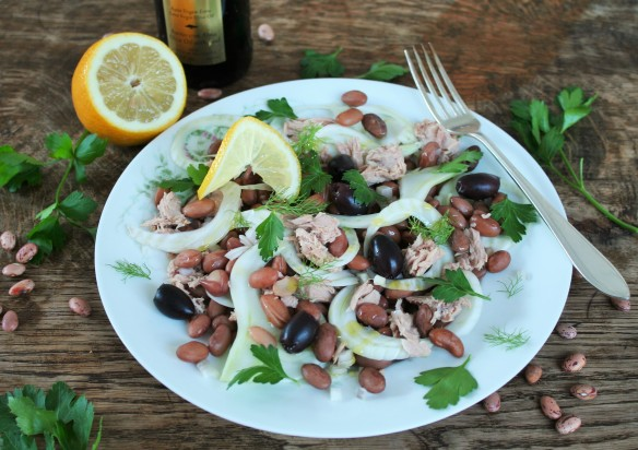 Italiaanse bonensalade met tonijn 1